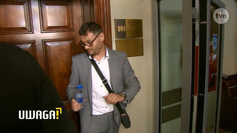 Mariusz P. nie chciał komentować sprawy. Wychodził z sali rozpraw wyraźnie zdenerwowany! /materiał zewnętrzny