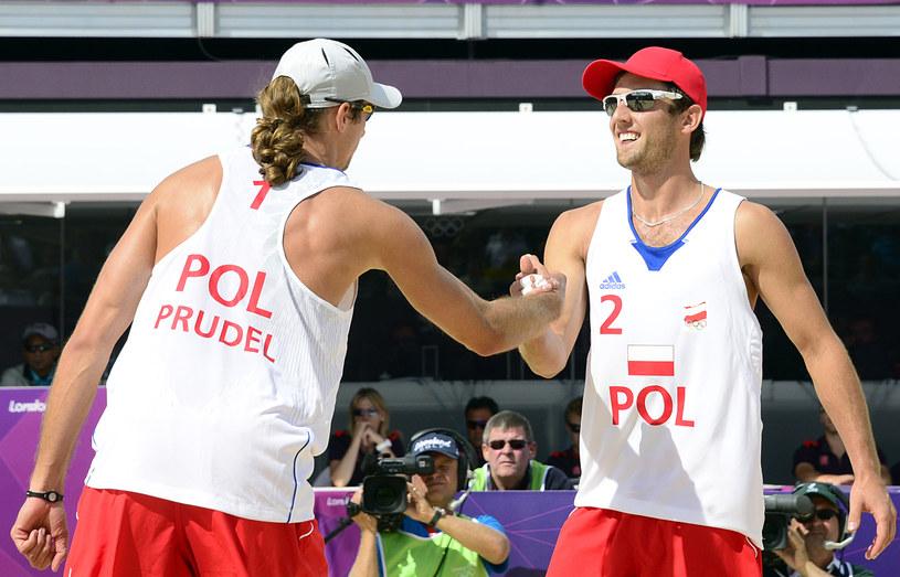 Mariusz Prudel (TS Volley Rybnik) i Grzegorz Fijałek (UKS SMS Łódź) /AFP