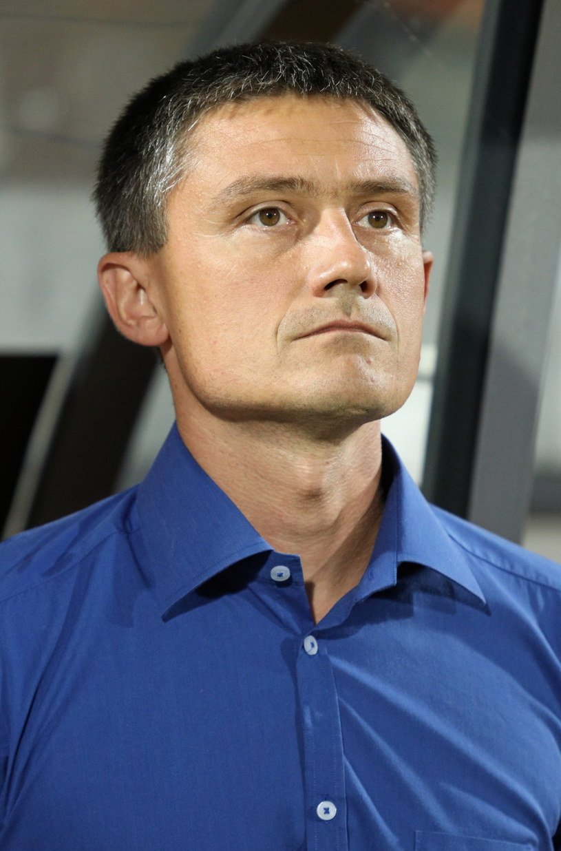 Mariusz Rumak, trener Bruk-Betu Termaliki Nieciecza /Stanisław Rozpędzik /PAP