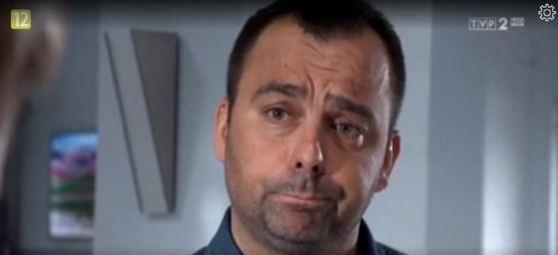 "Mariusz Smaga w serialu ""Na sygnale"" /TVP /"