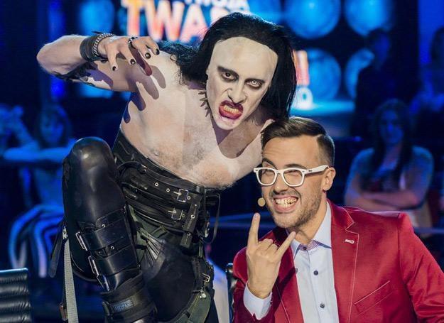 Mariusz Totoszko (jako Marilyn Manson) i DJ Adamus - fot. Press Photo Center /East News
