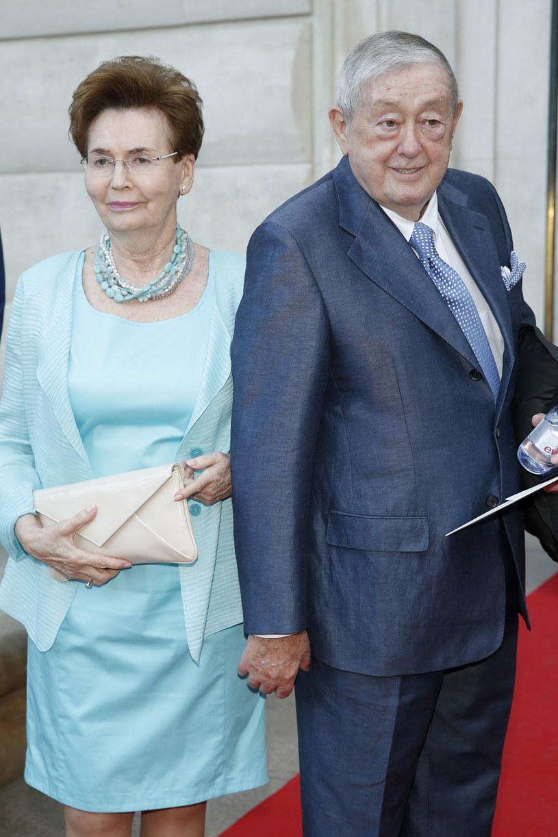 Mariusz Walter z żoną Bożeną /Podlewski /AKPA