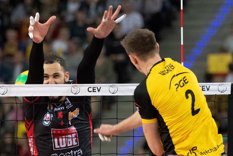 Mariusz Wlazły w pierwszym meczu z Cucine Lube Civitanova /Grzegorz Michałowski /PAP