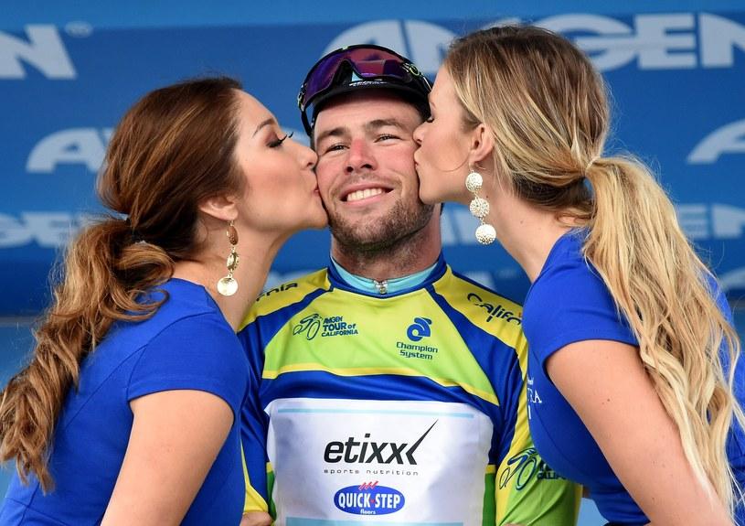 Mark Cavendish świętuje zwycięstwo /AFP