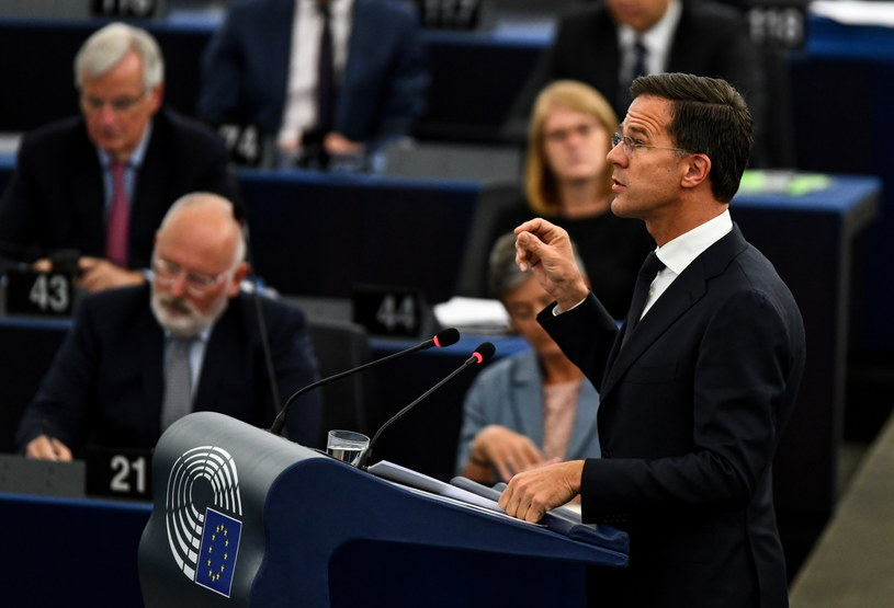 Mark Rutte w europarlamencie /PAP/EPA