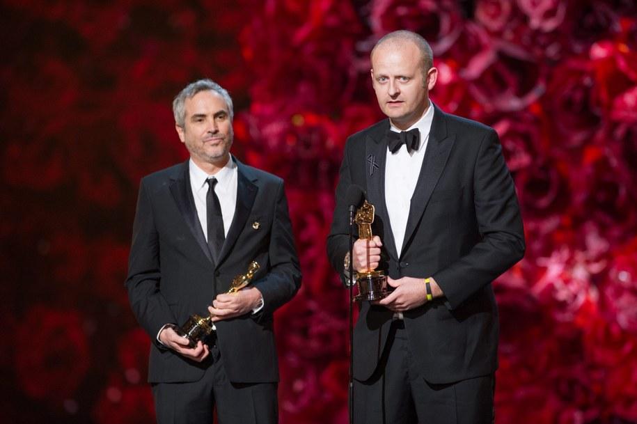 Mark Sanger i Alfonso Cuaron /Michael Yada /PAP/EPA
