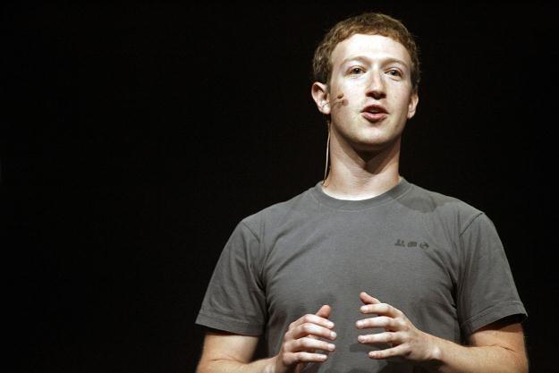 Mark Zuckerberg, główny twórca serwisu Facebook /AFP