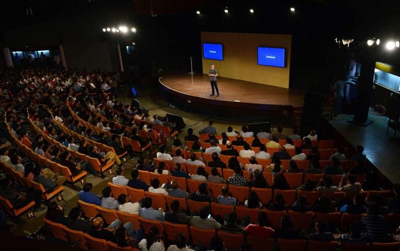 Mark Zuckerberg na jednym z wykładów /AFP