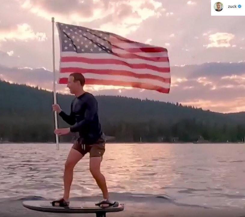 Mark Zuckerberg świętuje 4 lipca w najbardziej amerykański sposób, w jaki jest to możliwe /materiał zewnętrzny
