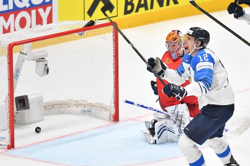 Marko Anttila cieszy się ze zdobycia gola w finale MŚ /AFP