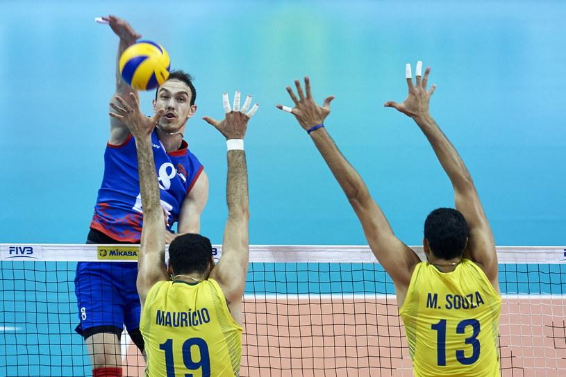 Marko Ivović w meczu z Brazylią zdobył 16 punktów /www.fivb.org