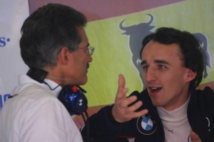 Maro Theissen do Roberta Kubica: Mam nadzieję, że nam nie uciekniesz! /Agencja Przegląd Sportowy