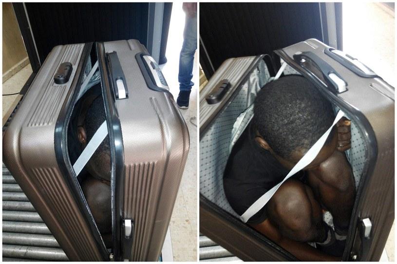 Marokanka chciała przewieźć migranta w walizce /SPANISH CIVIL GUARD /PAP/EPA