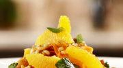 Marokańska sałatka z marchewką, pomarańczami oraz orzeszkami pinii