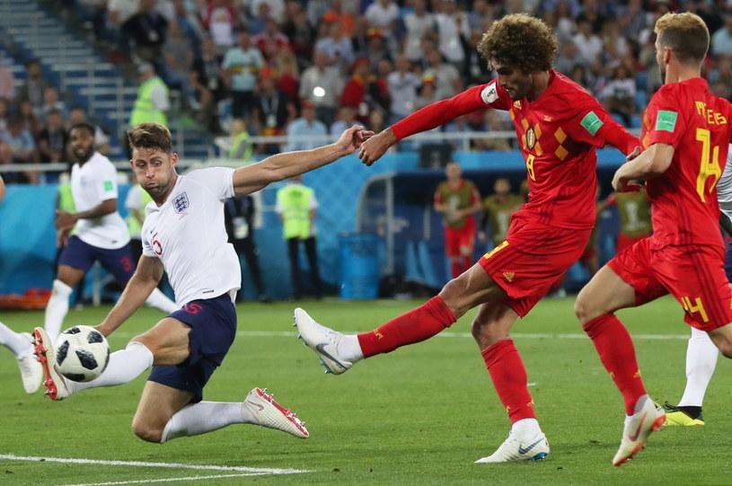 Marouane Fellaini w meczu z Anglią na mundialu w Rosji /PAP/EPA