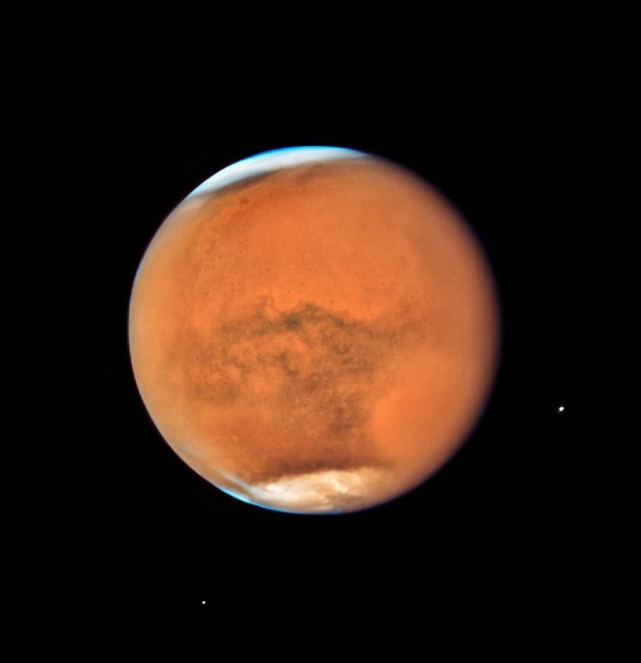 Mars w obiektywie teleskopu Hubble'a /NASA, ESA, and STScI /Materiały prasowe
