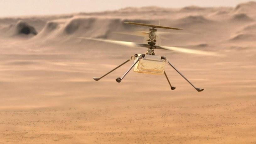 Marsjański dron za jednym zamachem przeleciał 450 metrów. Zobacz to na filmie [WIDEO] /Geekweek