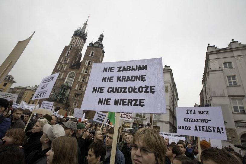 Marsz Ateistów i Agnostyków. Kraków, 2009 /Mieszko Stanislawski /Reporter