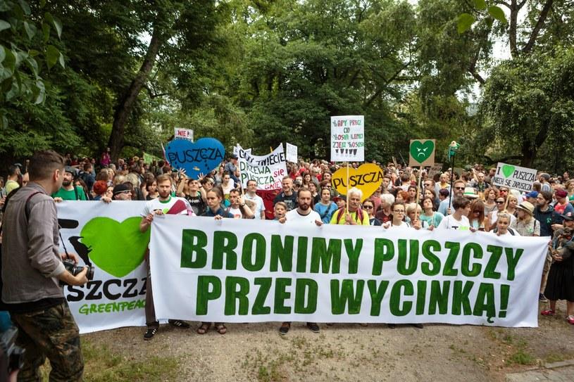 Marsz dla Puszczy Białowieskiej zorganizowany 24 czerwca w Warszawie /Michal Wende /East News