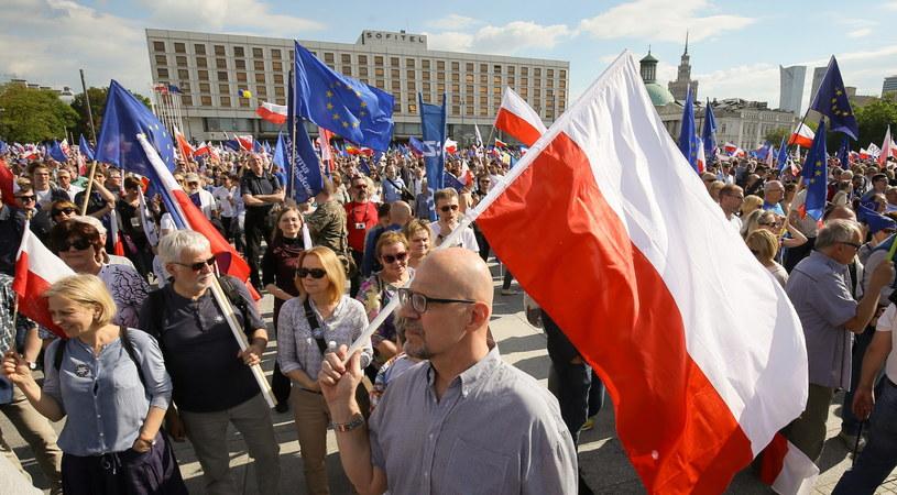 Marsz KOD i opozycji /Paweł Supernak /PAP