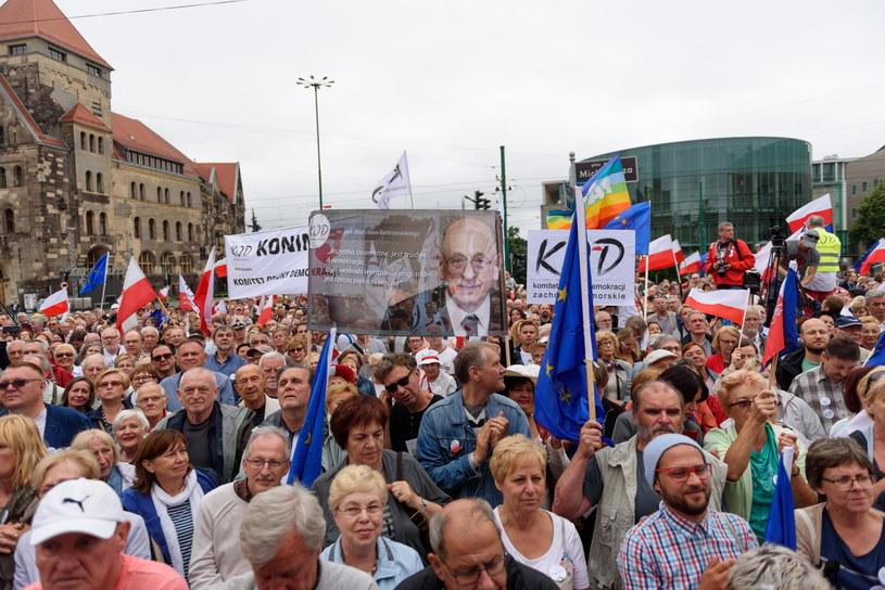Marsz KOD w Poznaniu /Jakub Kaczmarczyk /PAP