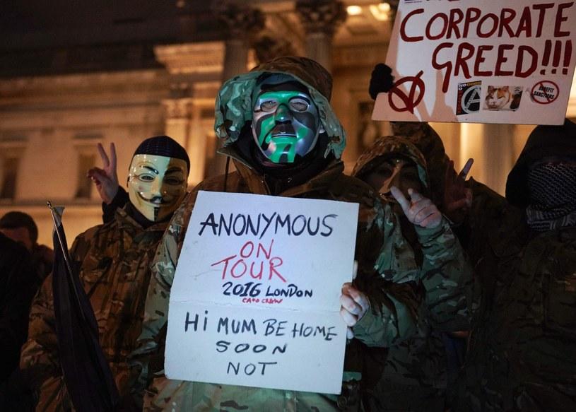 """""""Marsz Miliona Masek"""" w Londynie /NIKLAS HALLE'N /East News"""