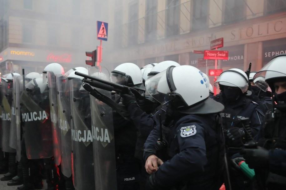 Marsz Niepodległości odbył się w Warszawie 11 listopada /Wojciech Olkuśnik /PAP