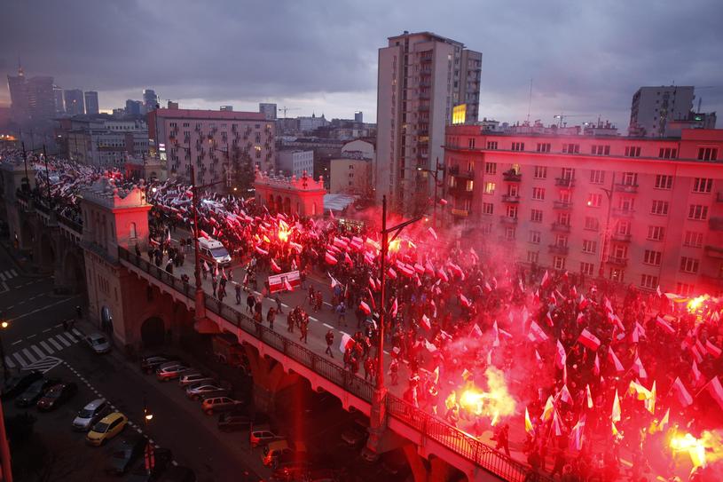 Marsz Niepodległości w 2017 r. /Stefan Maszewski /Reporter