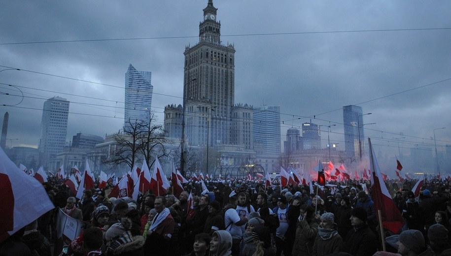 Marsz Niepodległości w Warszawie 11 listopada 2017 roku /Jaap Arriens /PAP/EPA