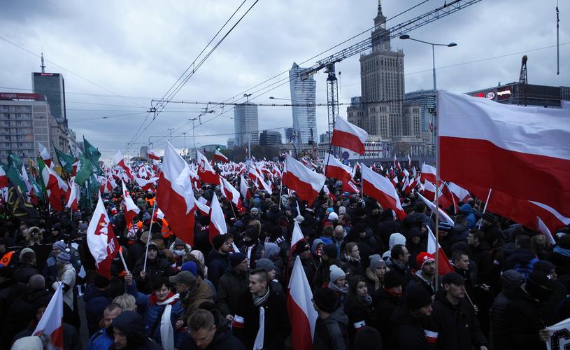 Marsz Niepodległości w Warszawie w 2017 roku /STEFAN MASZEWSKI/REPORTER /Reporter