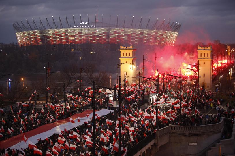 Marsz niepodległości w Warszawie w 2017 roku /Stefan Maszewski /East News