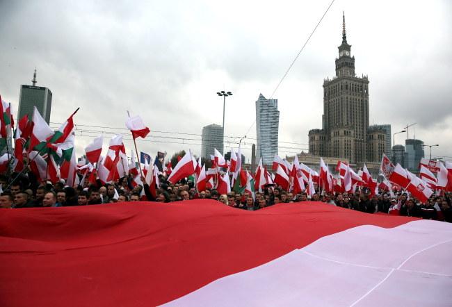 Marsz Niepodległości w Warszawie /PAP