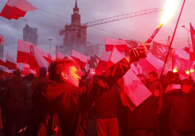 Marsz Niepodległości w Warszawie /Fot. Stefan Maszewski /Reporter