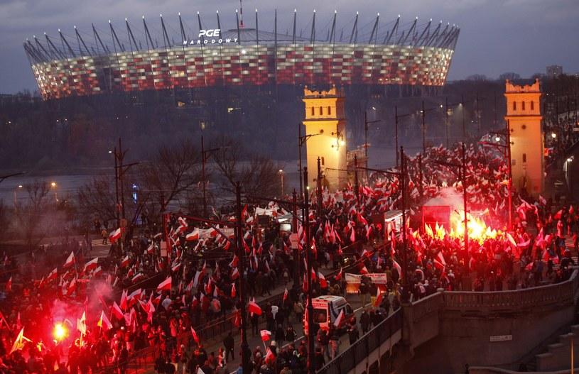 Marsz Niepodległości w Warszawie /Stefan Maszewski /Reporter