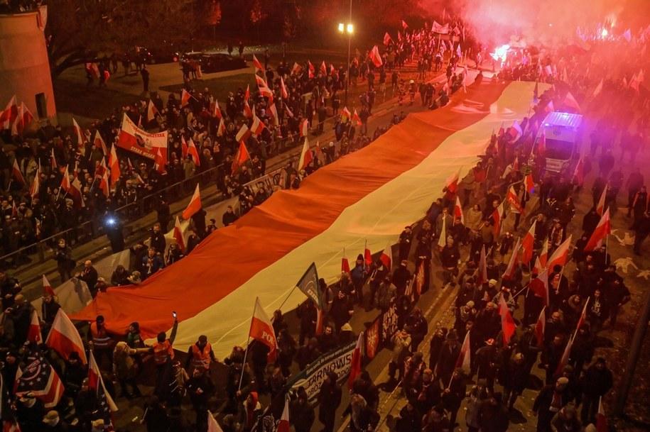 Marsz Niepodległości, Warszawa, 11 listopad 2019 roku /Mateusz Marek /PAP