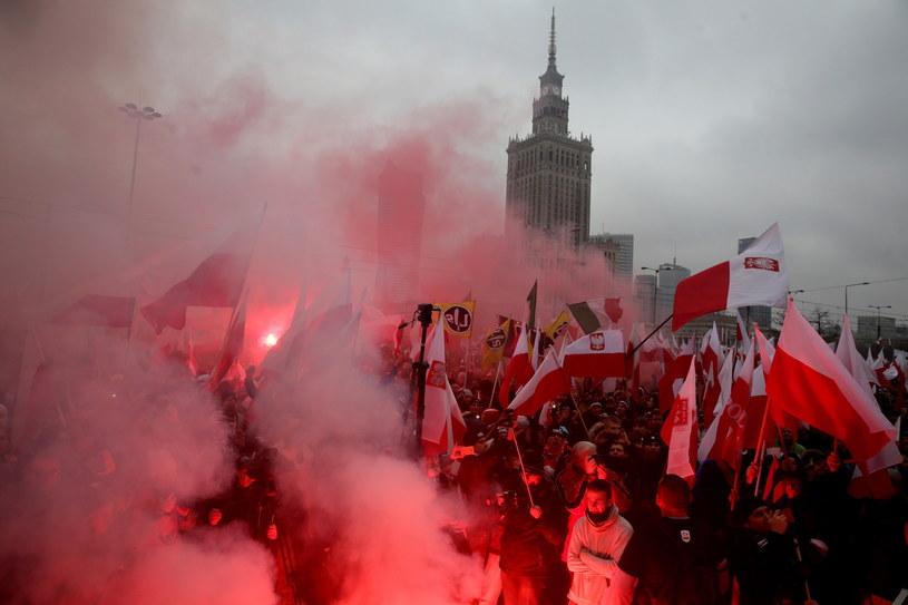 Marsz Niepodległości /Tomasz Gzell /PAP