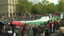 Marsz poparcia dla Palestyńczyków. Setki osób zebrało się w Paryżu