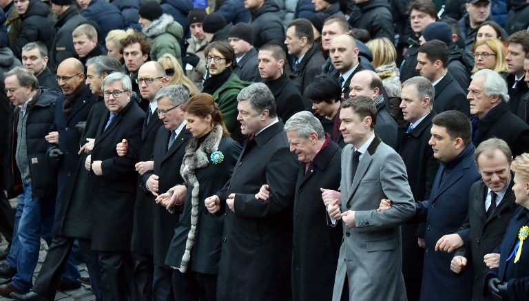 Marsz w Kijowie /AFP