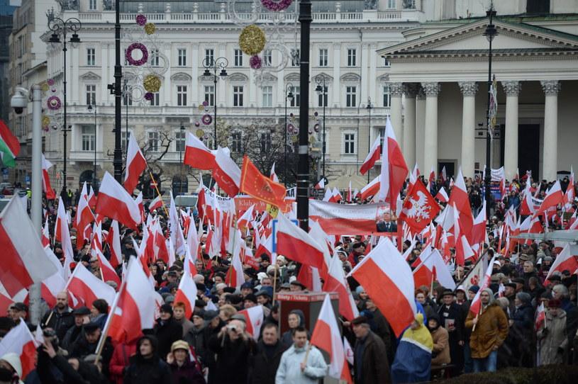 Marsz Wolności i Solidarności w Warszawie /Jacek Turczyk /PAP