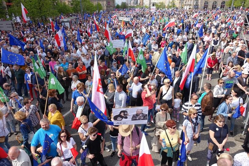 Marsz Wolności organizowany przez Platformę Obywatelską /Wojciech Laski /East News