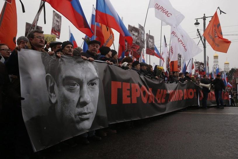 Marsz żałobny pamięci Borysa Niemcowa /PAP/EPA