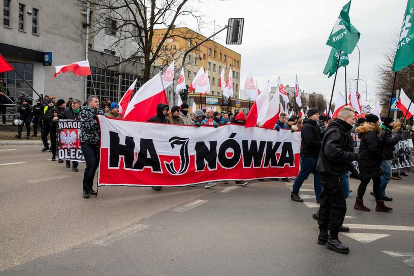 Marsz Żołnierzy Wyklętych w Hajnówce w 2019 roku /Wojciech Wojtkielewicz /East News