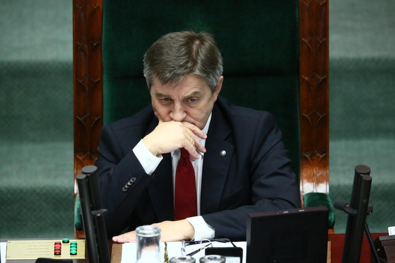 Marszałek Marek Kuchciński podczas posiedzenia Sejmu /Leszek Szymański /PAP