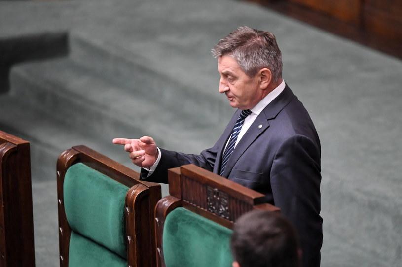 Marszałek Marek Kuchciński podczas posiedzenia Sejmu /PAP