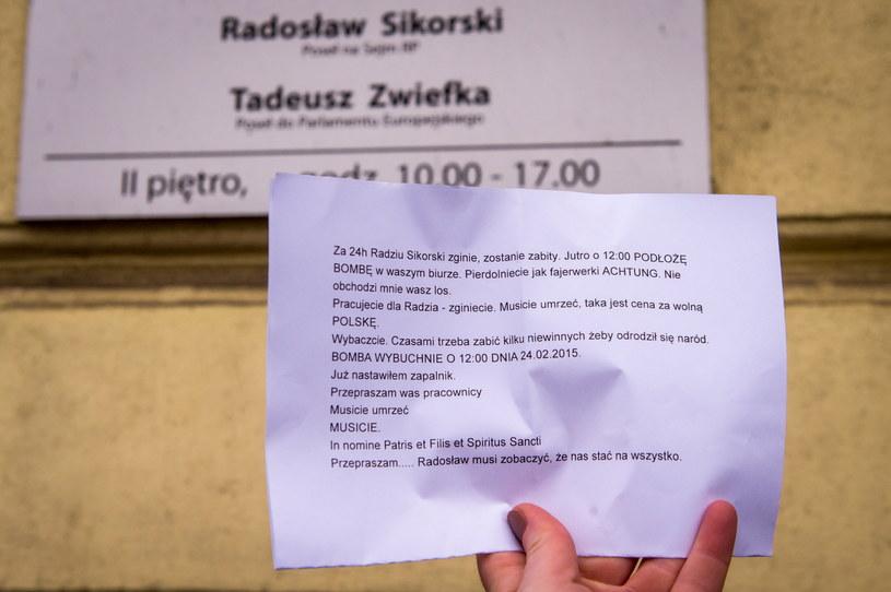 Marszałek Sejmu dostał list z pogróżkami /Tytus Żmijewski /PAP
