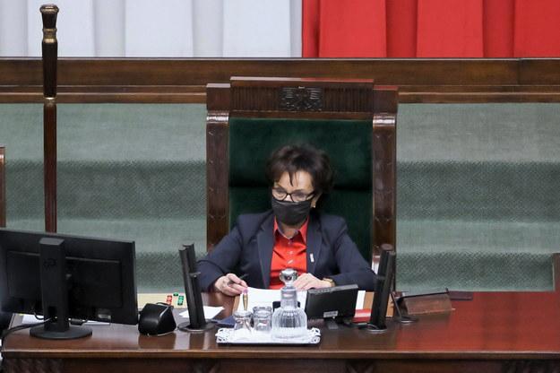 Marszałek Sejmu Elżbieta Witek na sali obrad Sejmu w Warszawie /Mateusz Marek /PAP