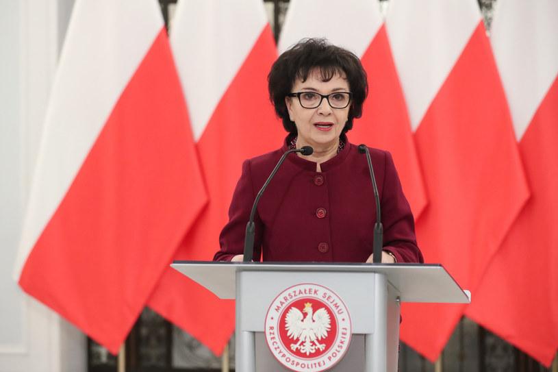 Marszałek Sejmu Elżbieta Witek /fot. Andrzej Iwanczuk /Reporter