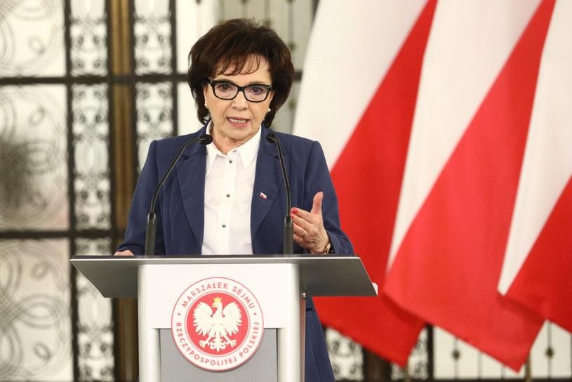 Marszałek Sejmu Elżbieta Witek /Fot Tomasz Jastrzebowski /Reporter