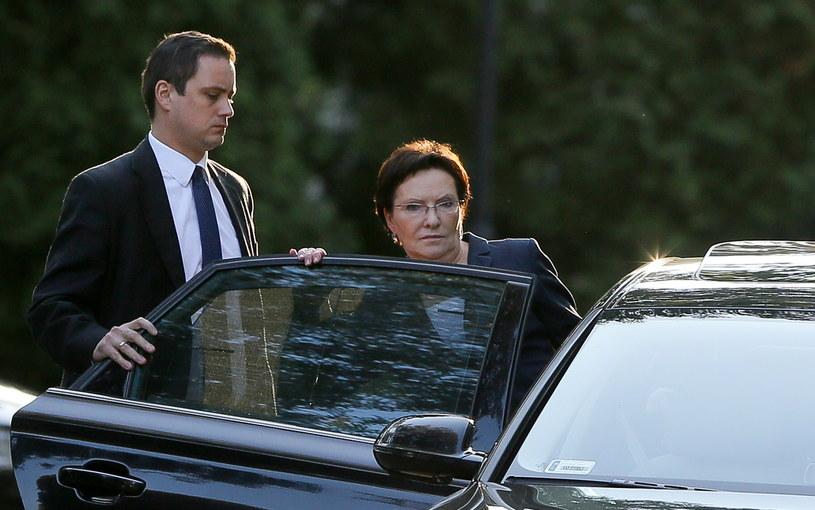 Marszałek Sejmu Ewa Kopacz opuszcza KPRM po zakończeniu posiedzenia Zarządu Krajowego PO /Paweł Supernak /PAP