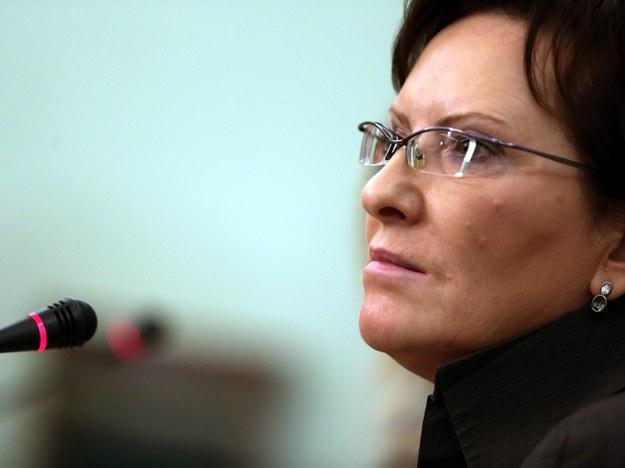 Marszałek Sejmu Ewa Kopacz podczas konferencji prasowej /PAP /PAP